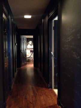 Hallway at Southfork Ranch changed to resemble a hotel hallway for new season.