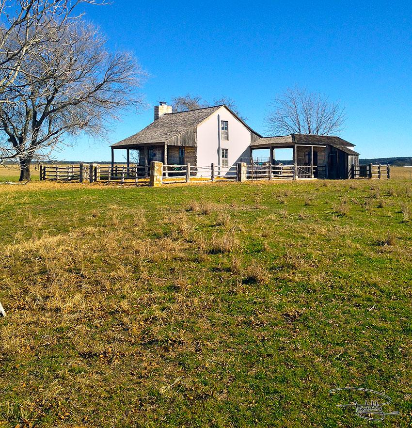 The Log Cabin Near Fredericksburg, Texas