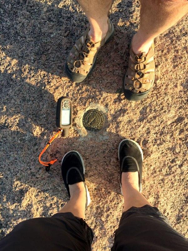 Enchanted Rock's Geodetic Survey Mark