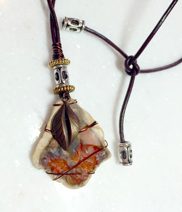 Mixed Media Rock Necklace