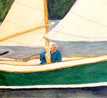 Main Sailing Seabird Watercolor Painting