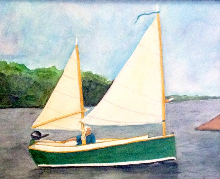 Main Sailing Seabird Original Watercolor