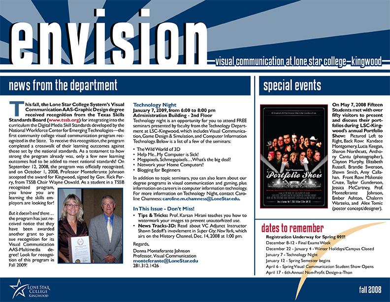 Envision Newsletter Fall 2008