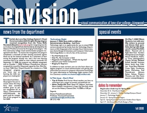 Envision Newsletter Fall 2008