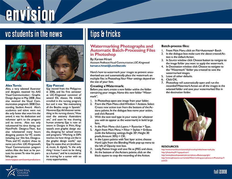 Envision Newsletter Fall 2008 Page 2