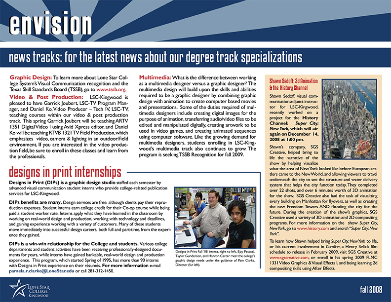 Envision Newsletter Fall 2008 Page 3