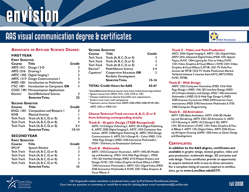 Envision Newsletter Fall 2008 Page 4