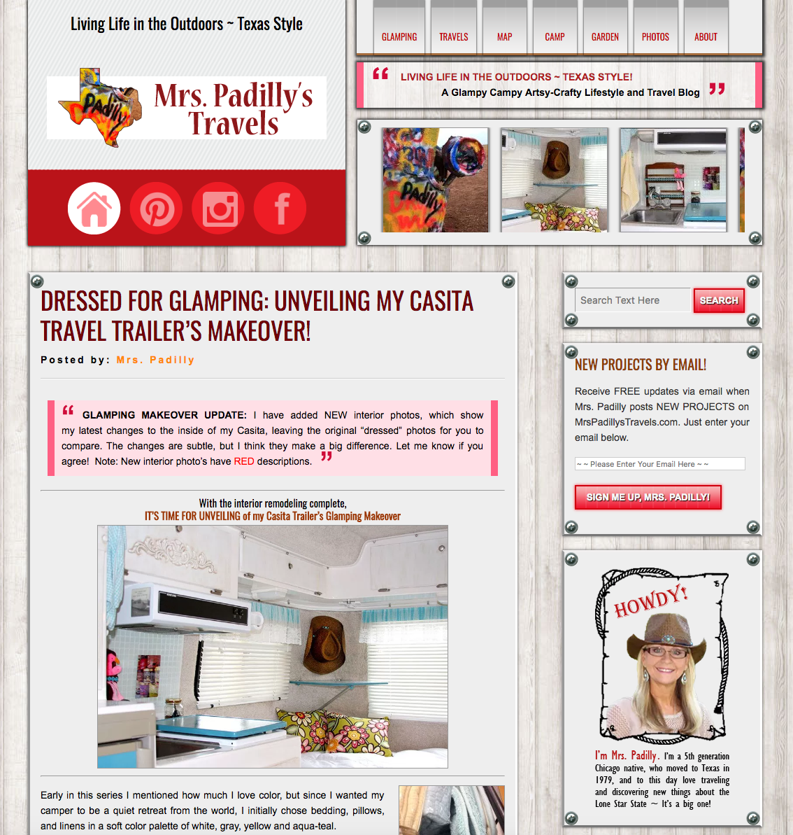 Mrs. Padilly's Travels Website