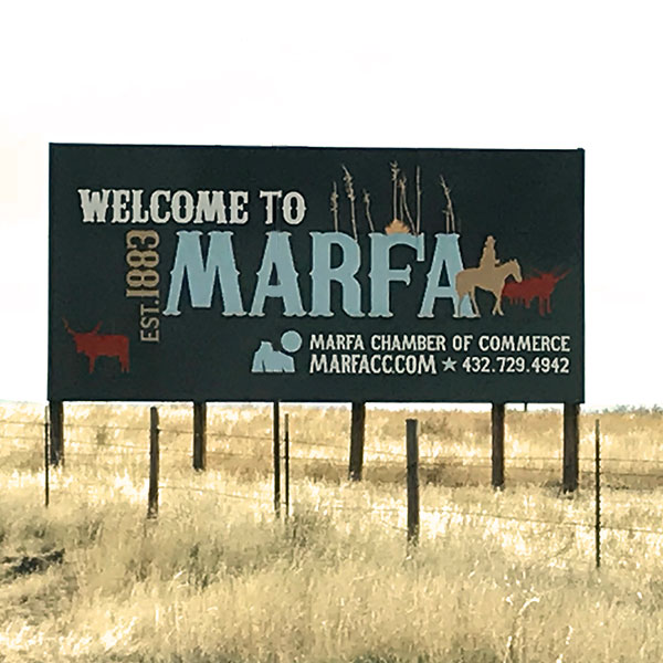 Marfa, Texas Welcome Sign