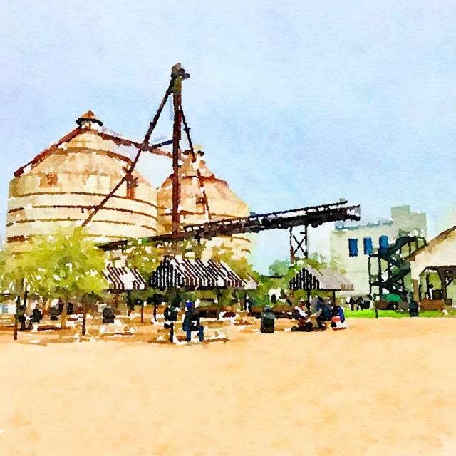 magnolia market digitally painted photo