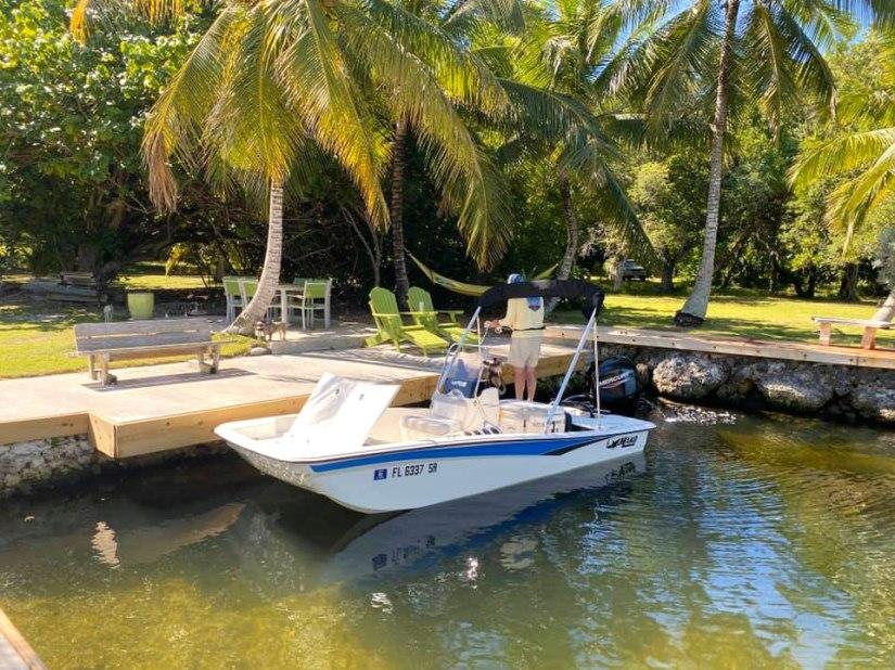 Private Lagoon with Mako Skiff